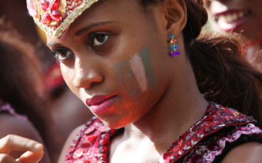 A lady attends the Annual Lagos state carnival in Ikoyi_ Lagos_ Nigeria